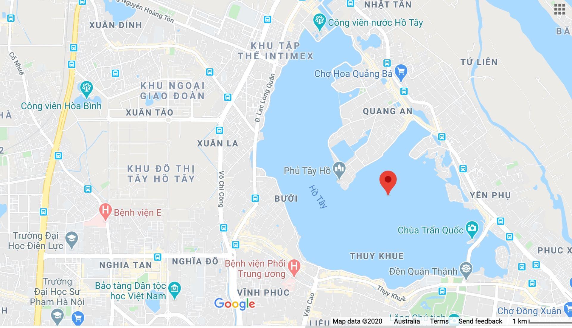 West Lake Map Hanoi