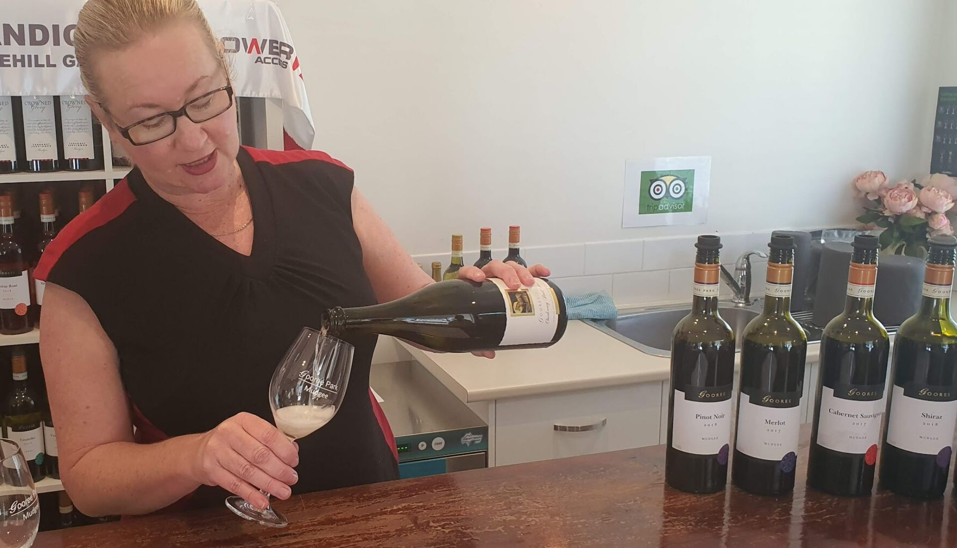 Wine tasting at Goree Park
