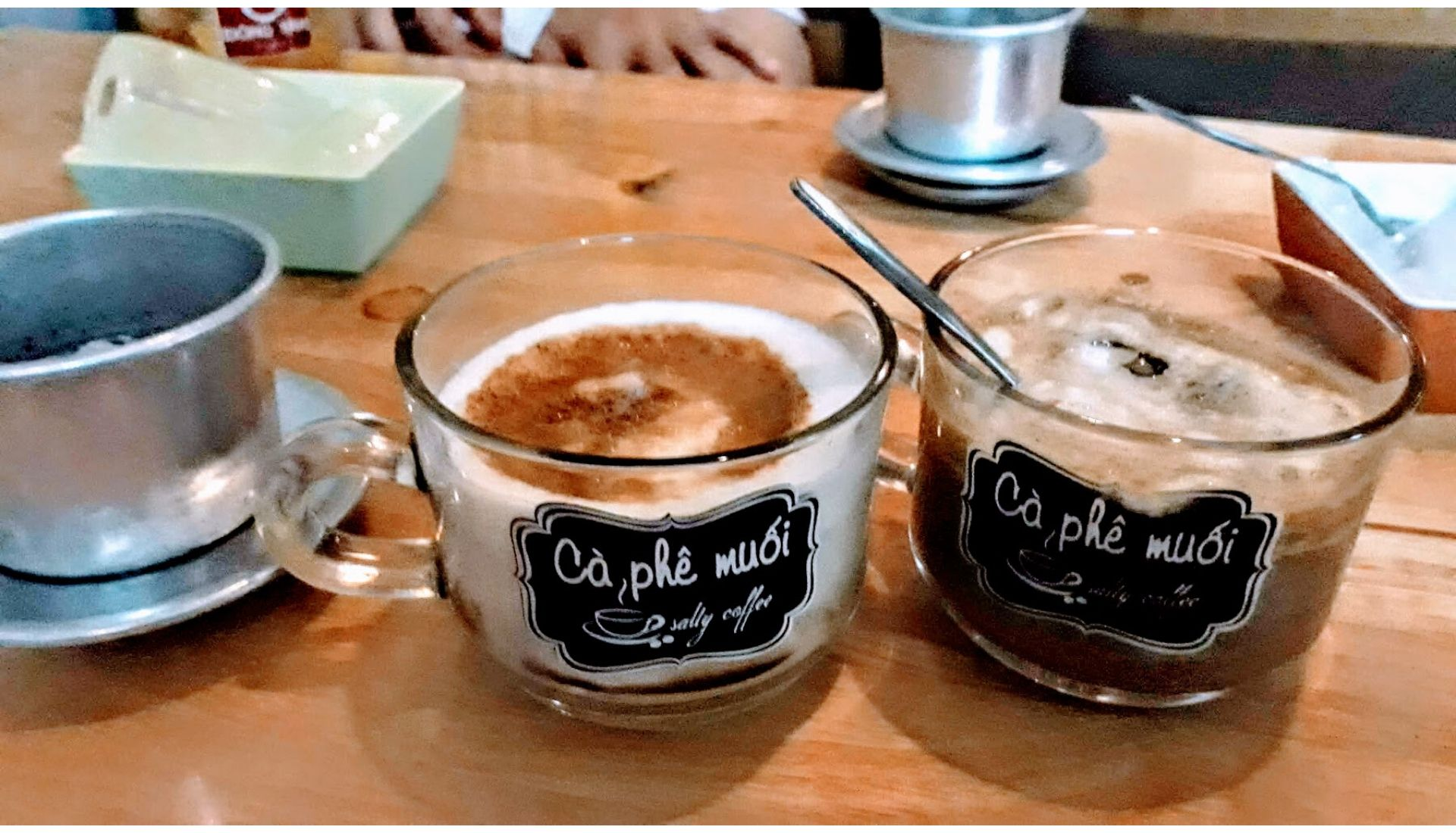 Salted coffee at Ca Phe Muoi