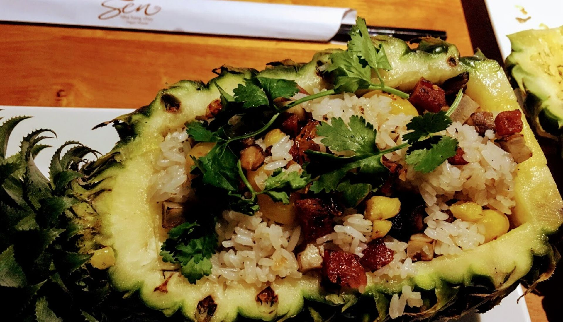 Vegetarian food at Sen Restaurant