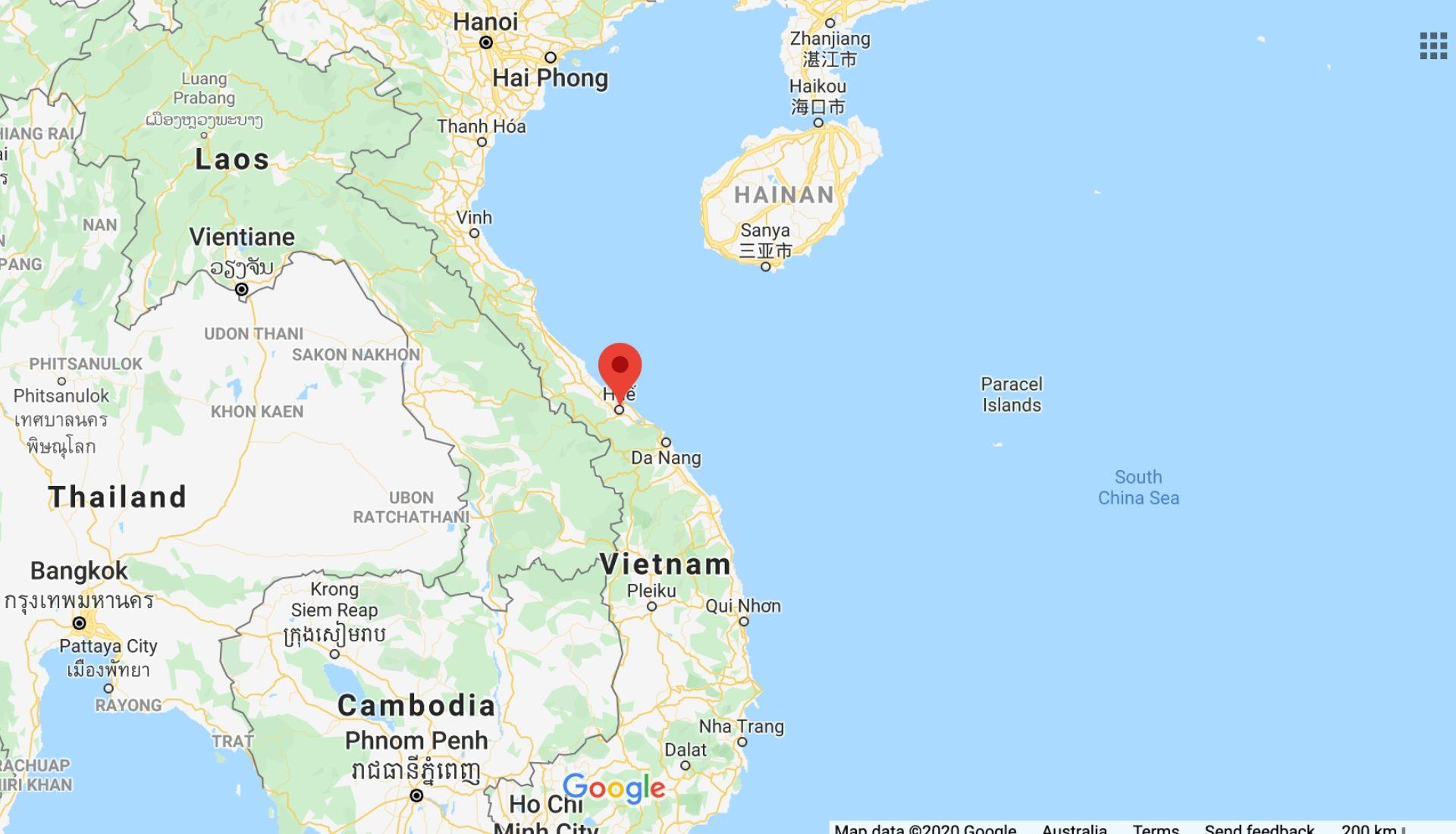 Hue Vietnam Map