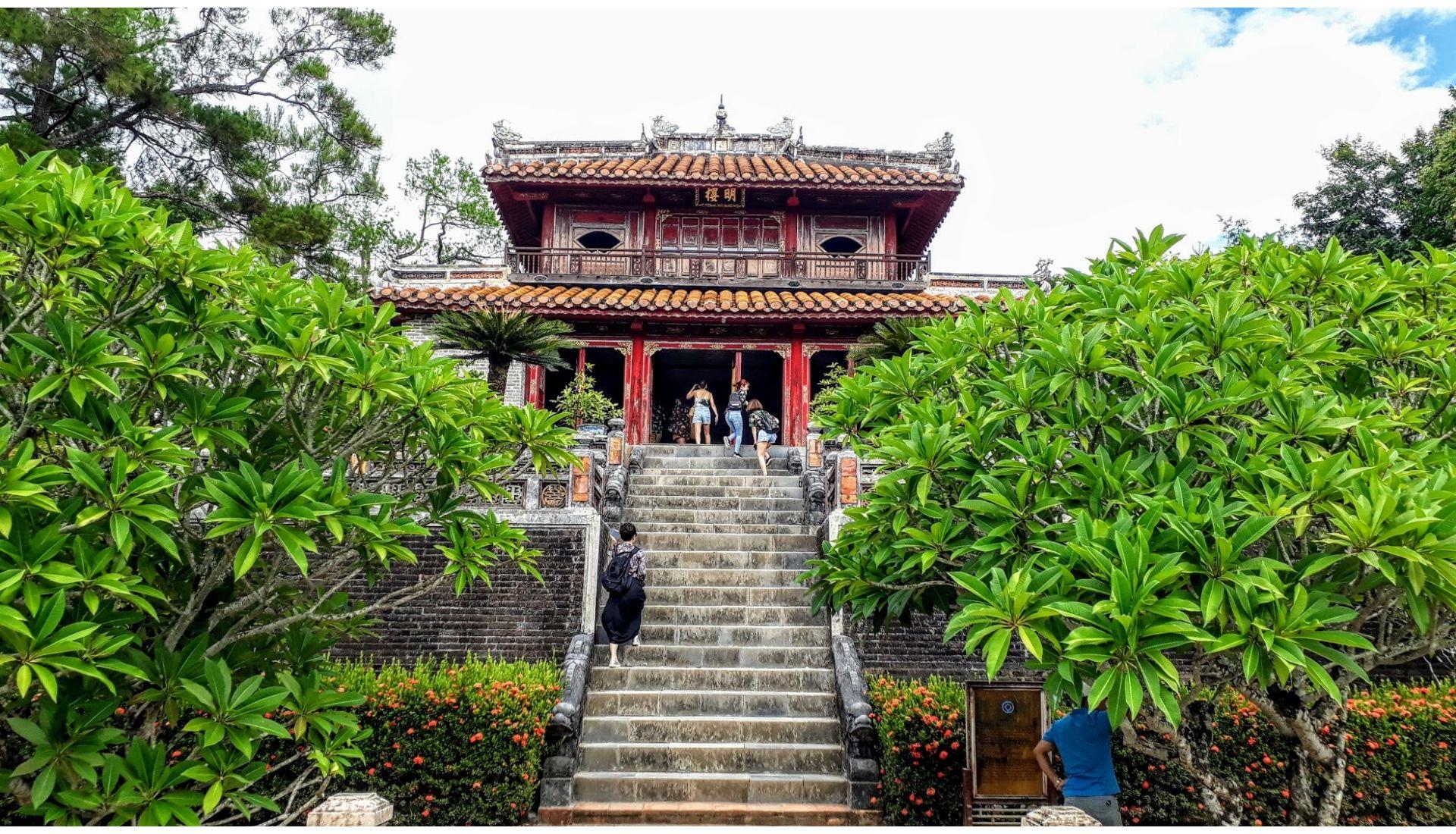 Minh Pavilion part of Minh Mang Tomb complex
