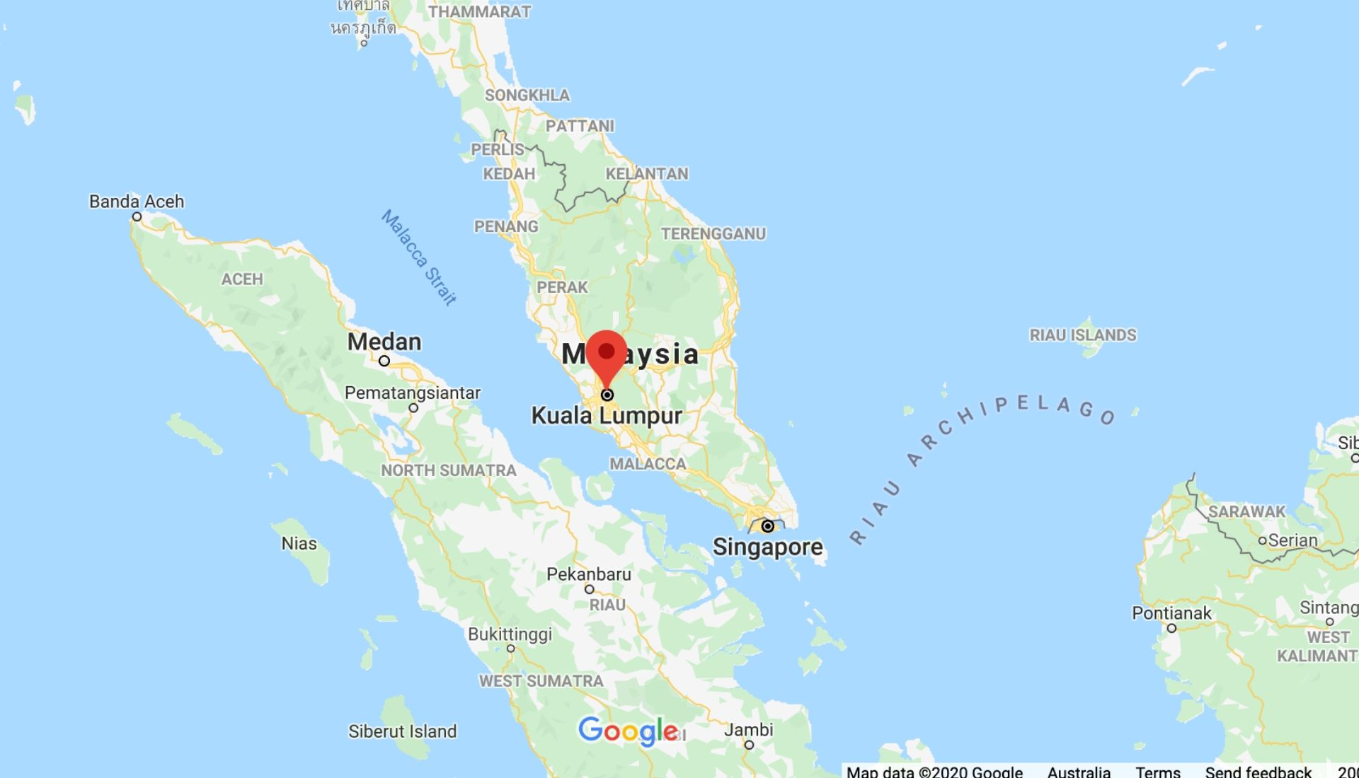 Map of Malaysia in Asia