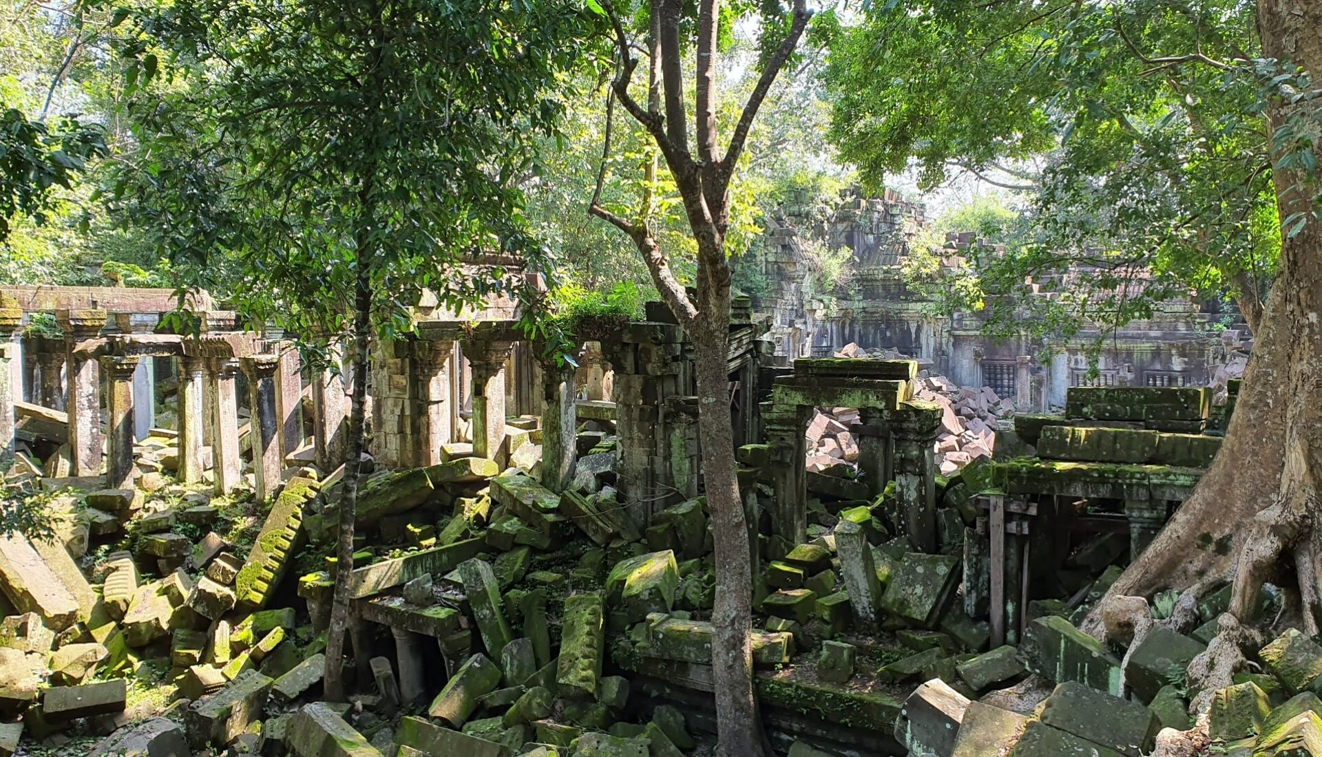 The ruins of Beng Mealea at Angkor Wat