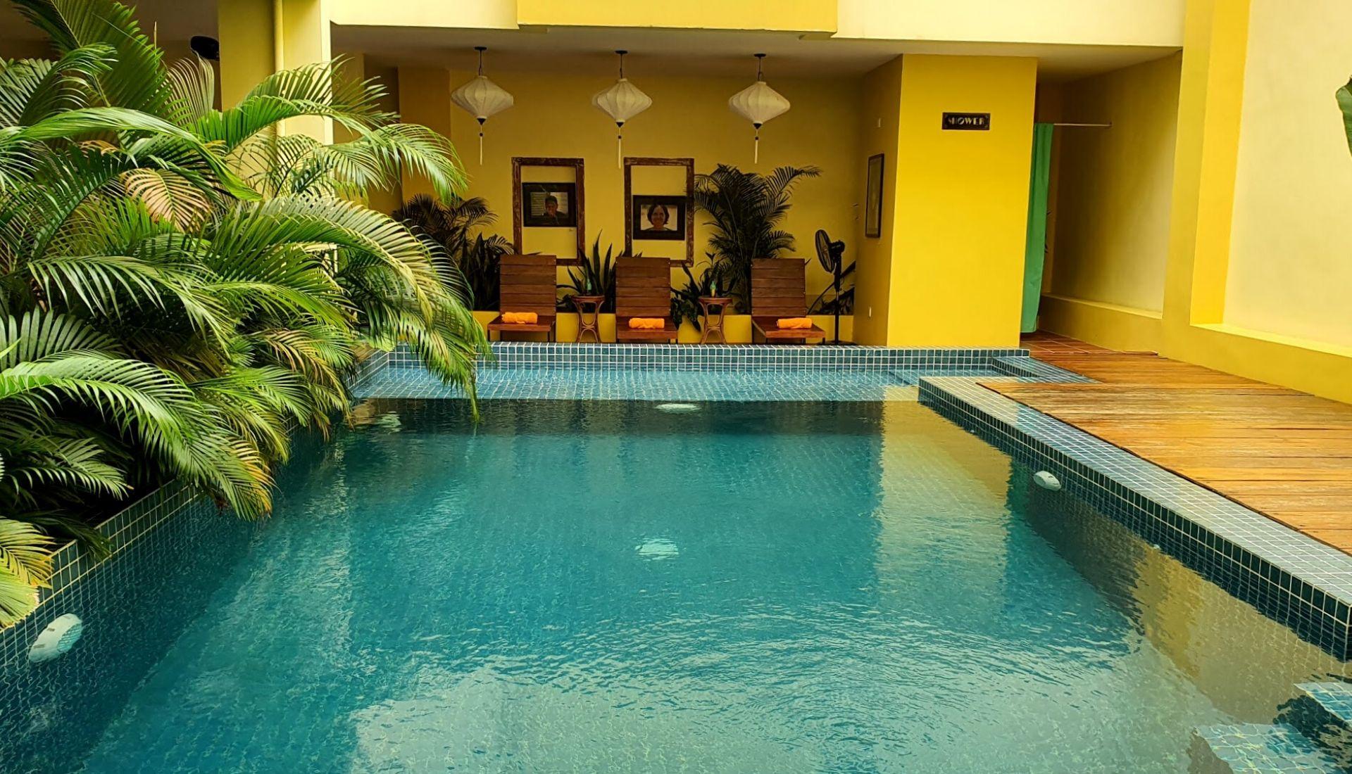 Pool at Old Cinema Hotel Kampot