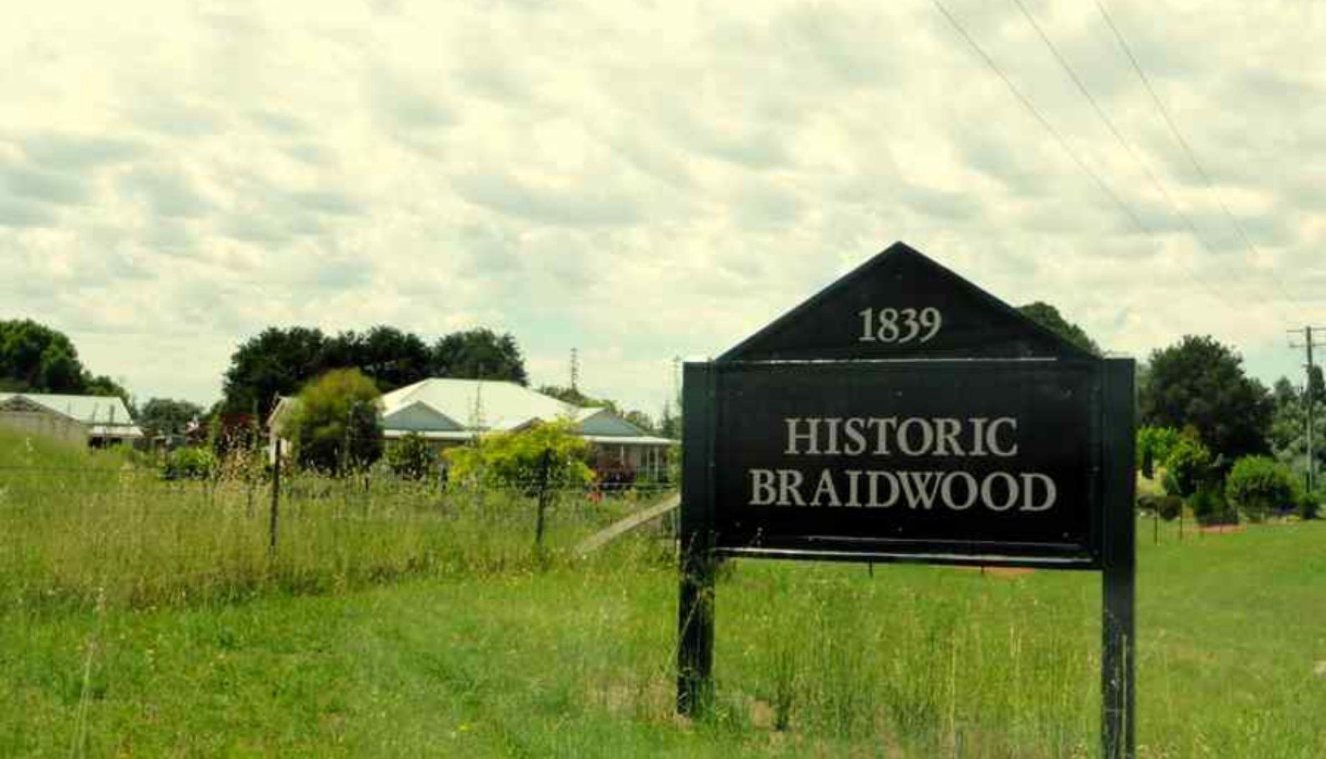 Entrance to Historic Braidwood
