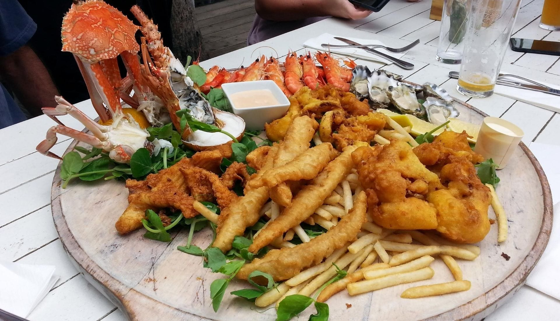 Seafood Platter at Pepe's on the Beach