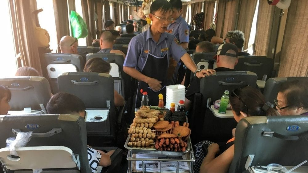 Buying food on the Reunification Express