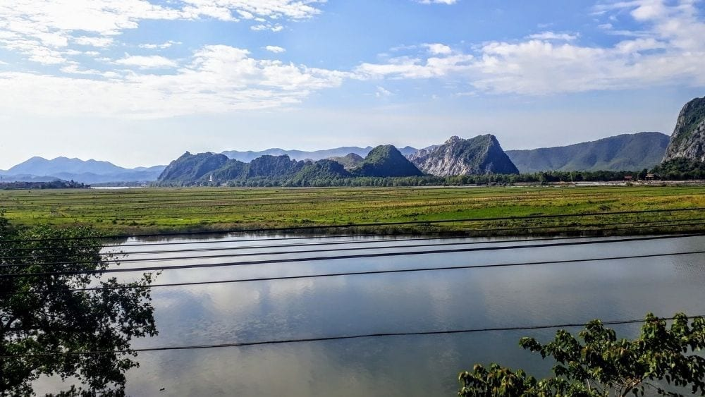Scenic landscapes on the train journey from Hanoi to Hue