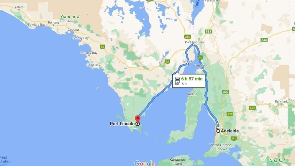 Map of Port Lincoln