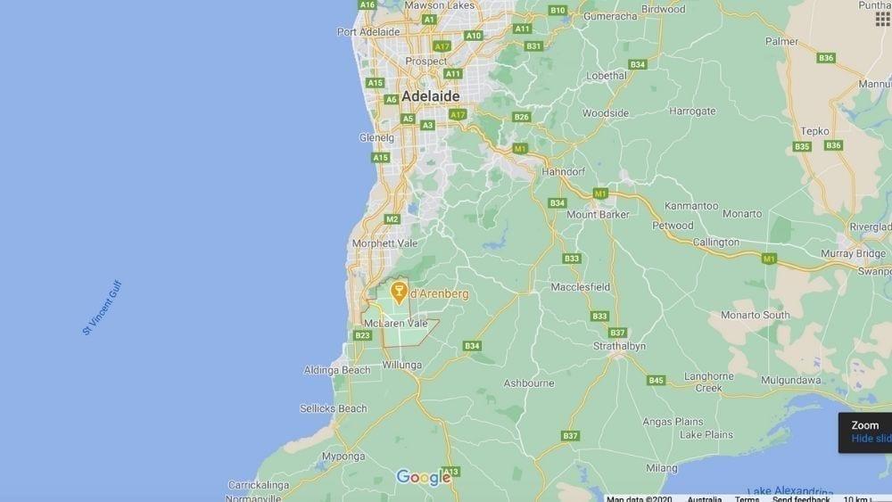 Map of McLaren Vale