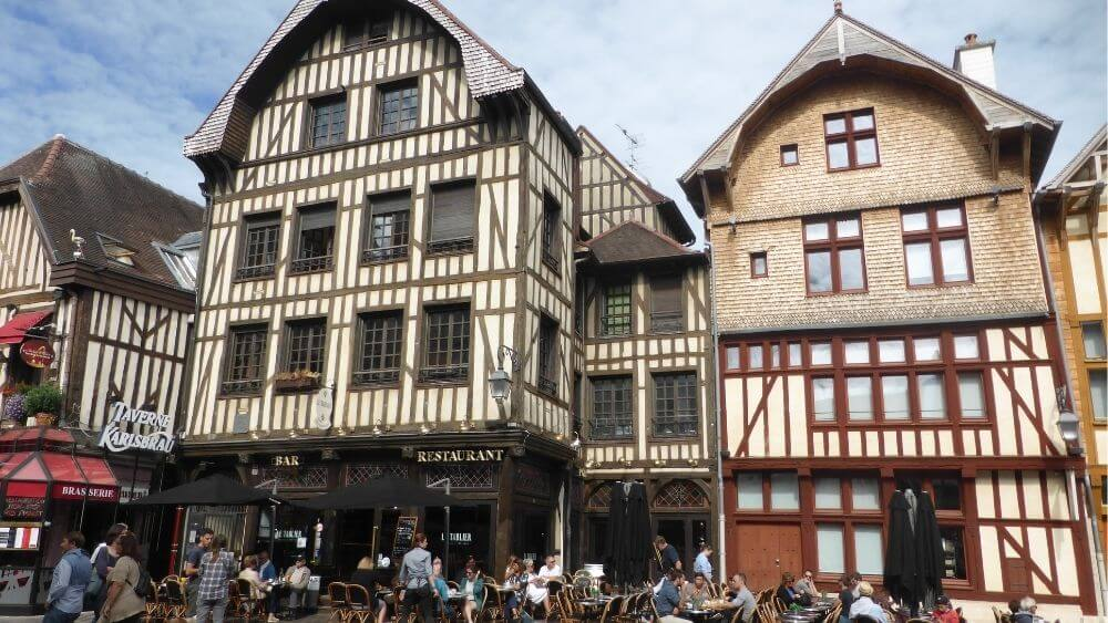 The medieval buildings of Troyes
