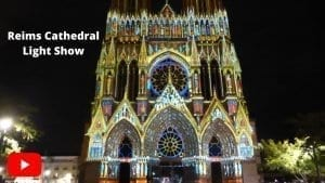 Youtube video of Reims Cathedral Light Show performances