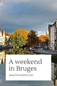 A weekend in Bruges - canal boat ride