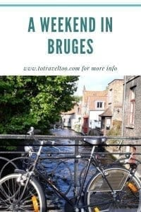 Canal boat ride - a weekend in Bruges