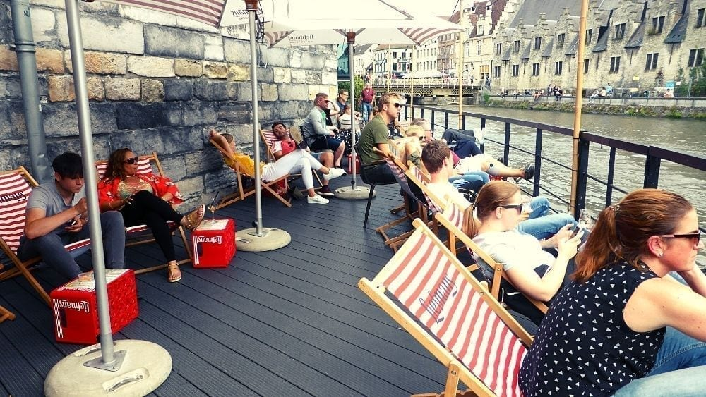 Enjoy a beer or two on the canals of Ghent