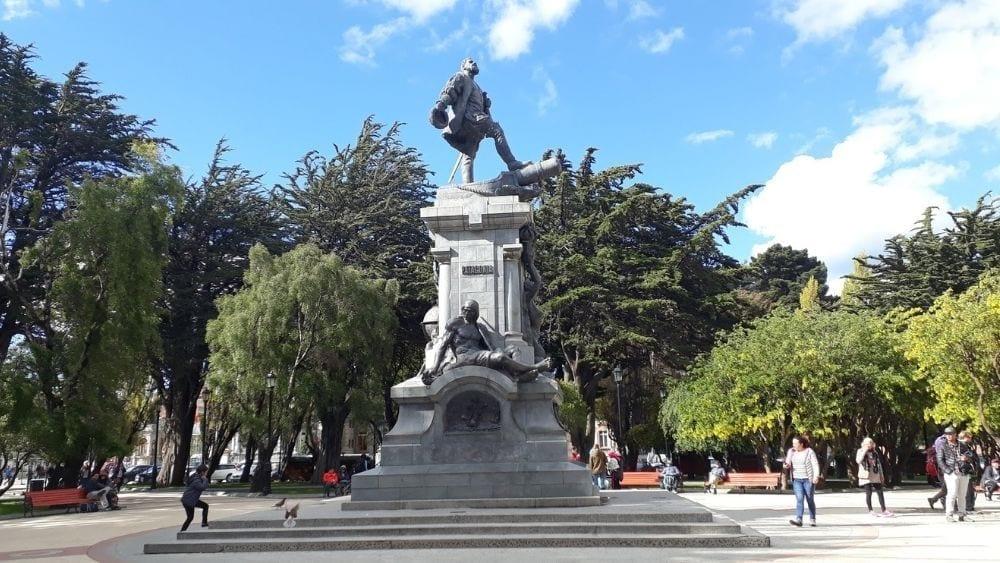 Statue of Magellan in Punta Arenas Plaza Munoz Gamero