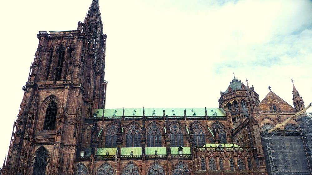Side view of Strasbourg's Cathedral