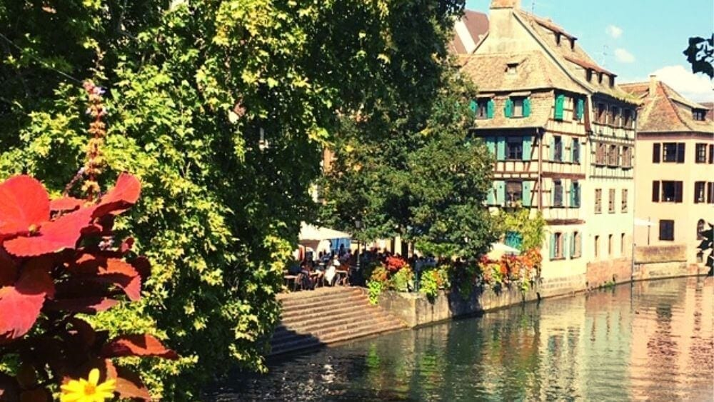 Beautiful Strasbourg and its canals