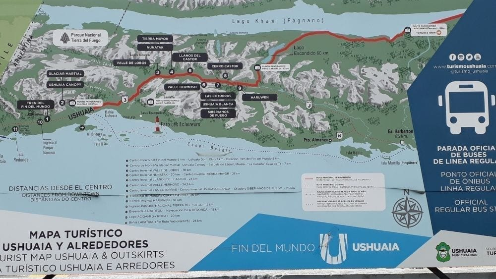 Map of Ushuaia