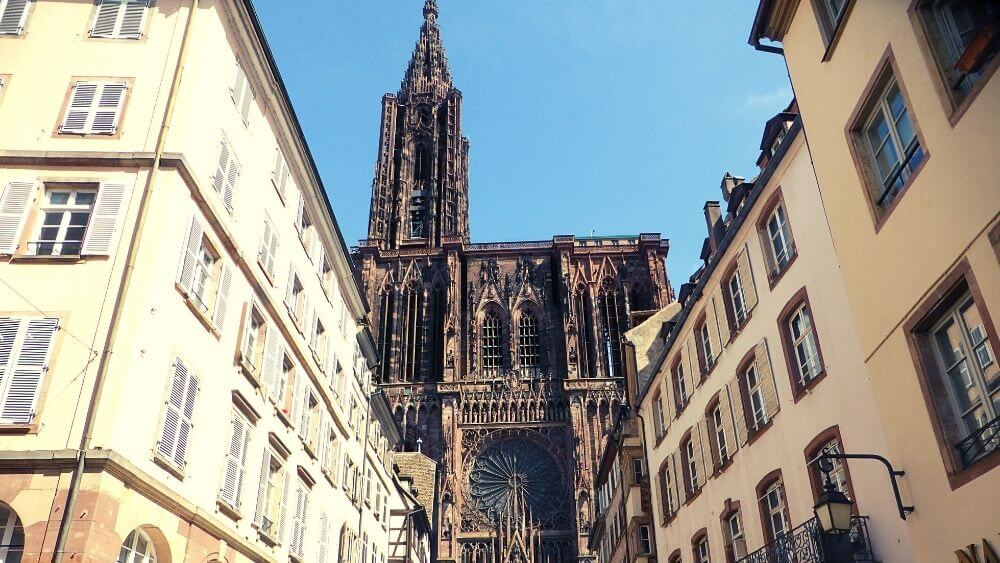 View of Strasbourg's cathedral