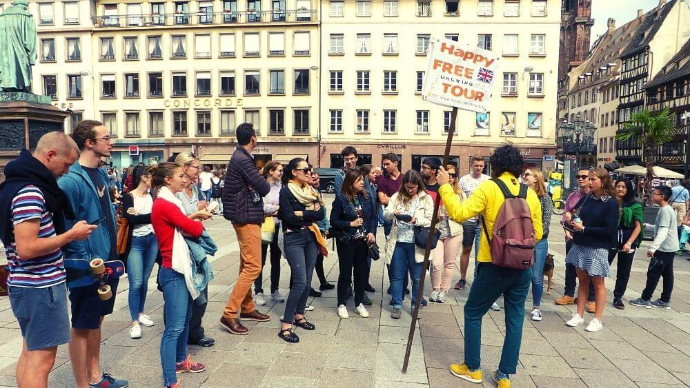 Take a free walking tour of Strasbourg with Happy Free Tours