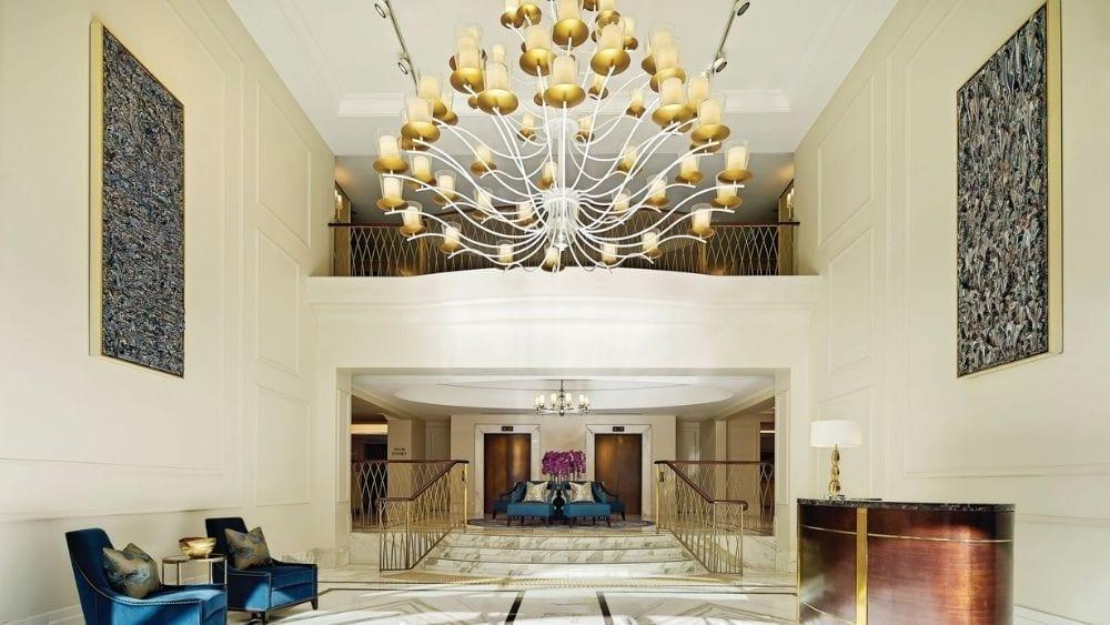 Grand Foyer at the Langham Hotel in Sydney