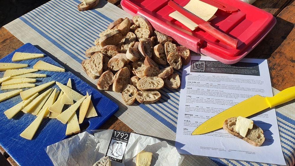 Cheese tasting on Bruny Island